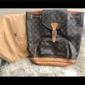 Louis Vuitton Montsouris Monogram Canvas Backpack